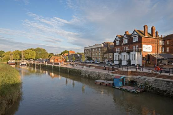 Bell Hotel, Sandwich - River Stour